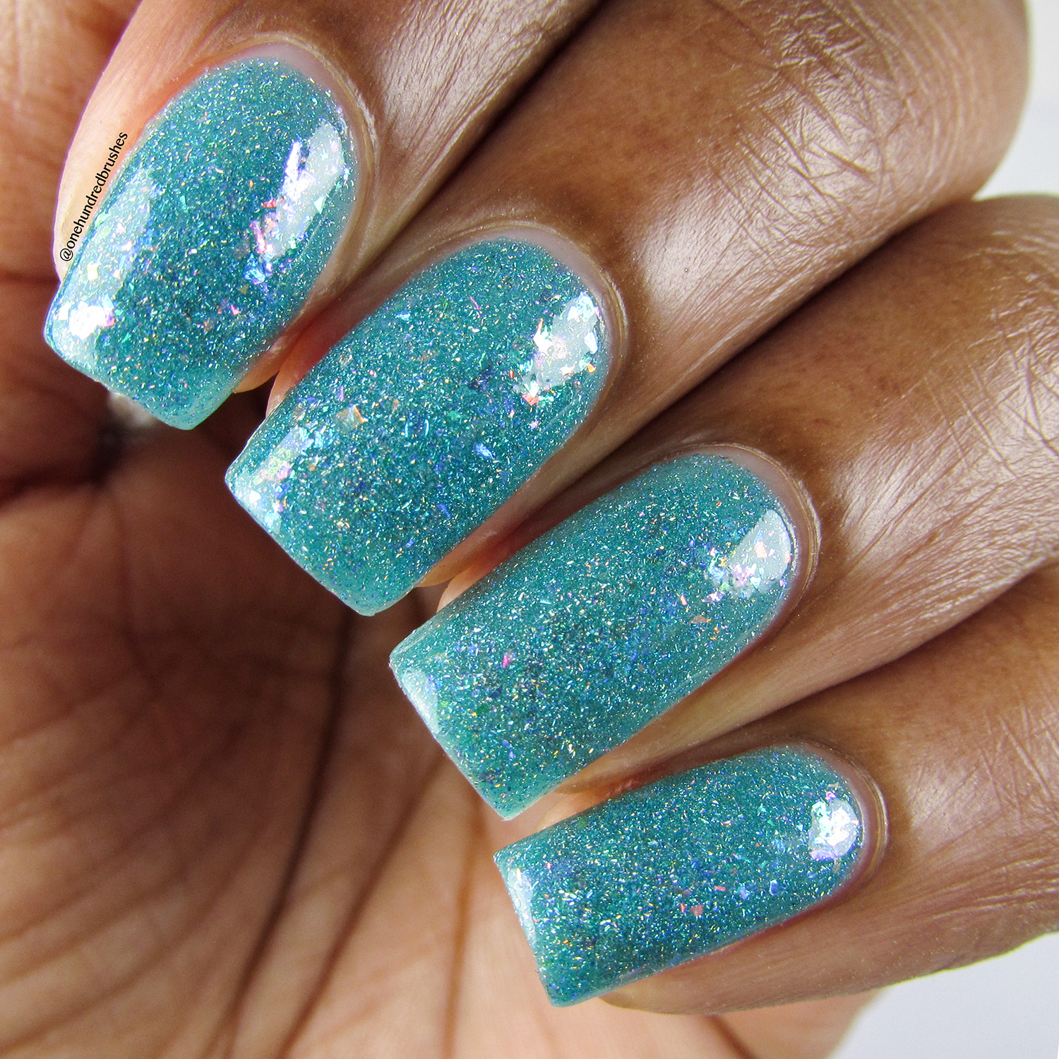 Hubble'd Together - Closeup - KBShimmer - Polish Pickup April 2018 - glow in the dark - jelly polish - unicorn flakes
