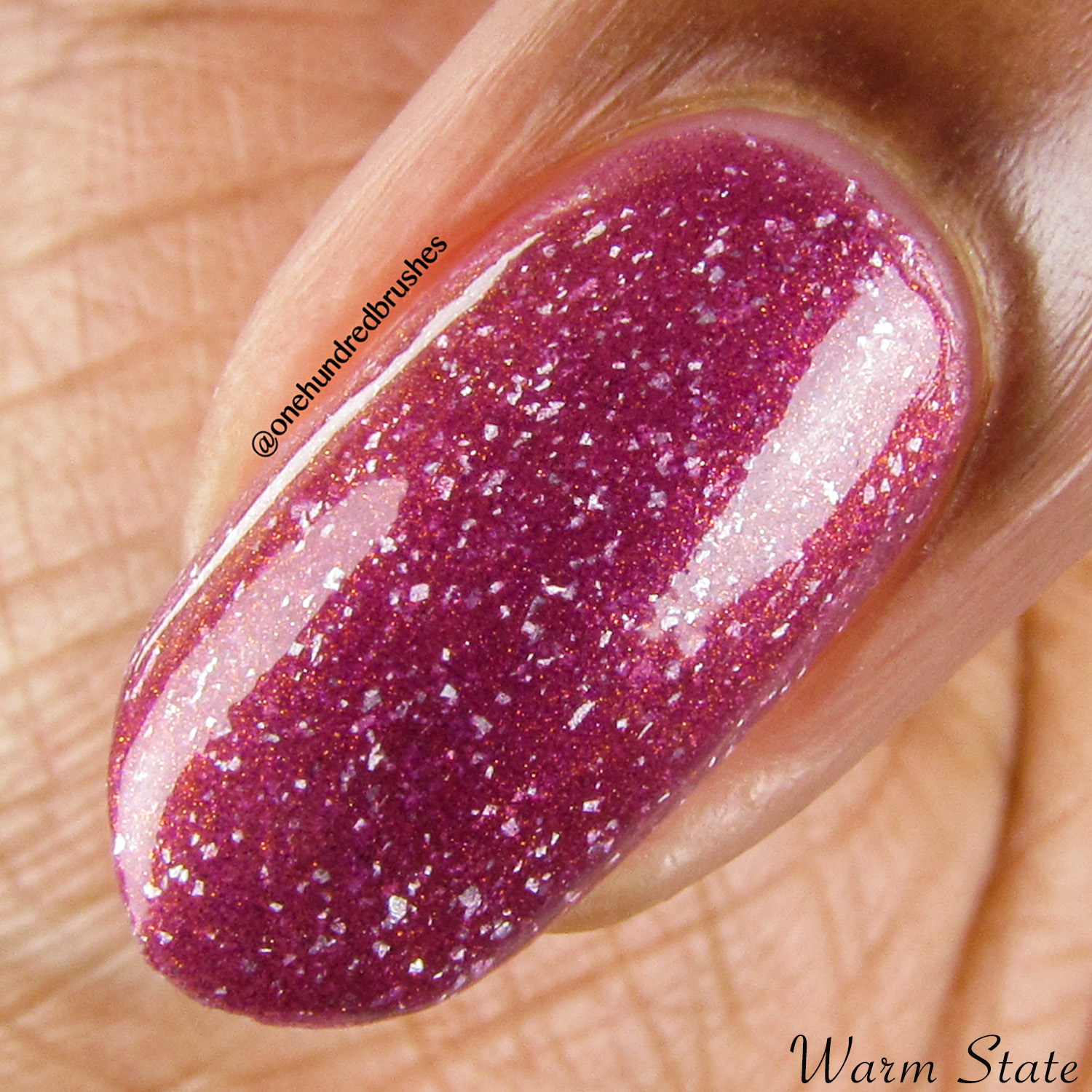 Anything For Selenas - Warm, macro - Vapid Lacquer - May Polish Pickup - thermal - multichrome - holographic
