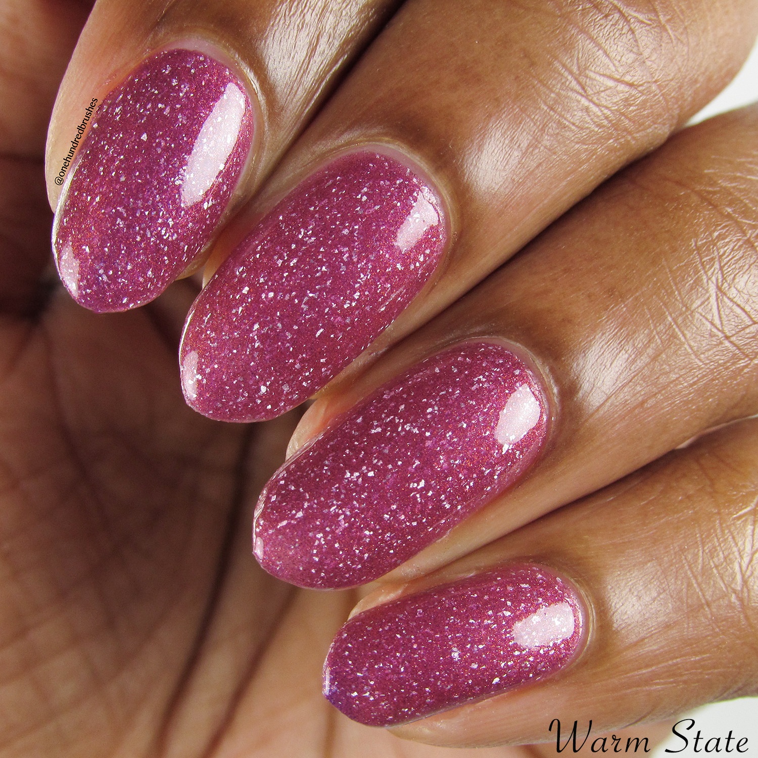 Anything For Selenas - Warm, closeup - Vapid Lacquer - May Polish Pickup - thermal - multichrome - holographic