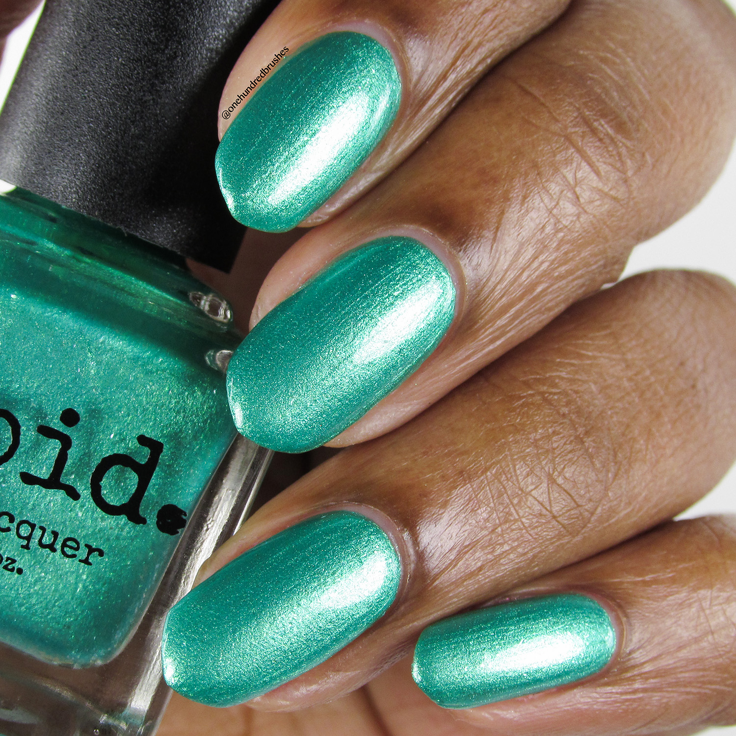 Aquatica - bottle - Vapid Lacquer - April 2018 - Spring release - green - aquamarine - green shimmer