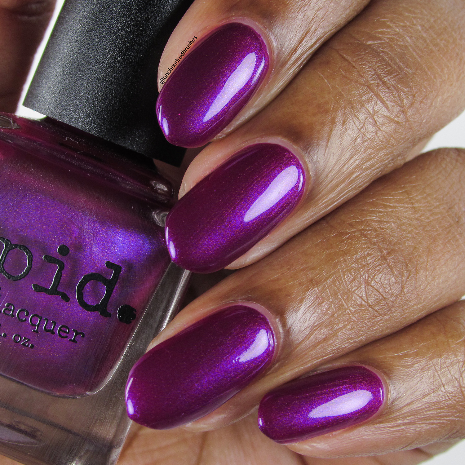 Concord - bottle - Vapid Lacquer - April 2018 - Spring release - berry purple - purple shimmer