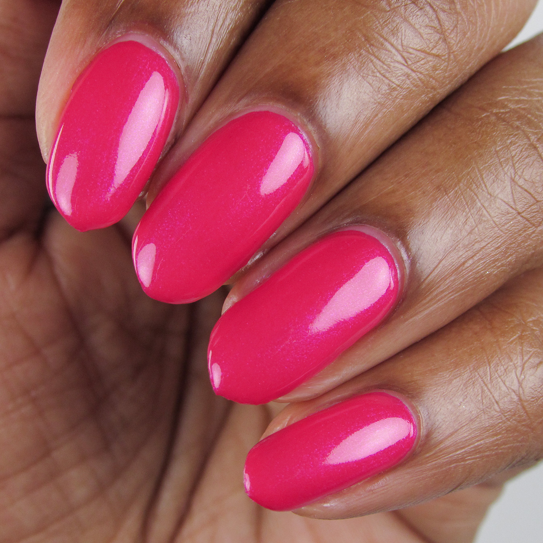 Flamingle - closeup - Vapid Lacquer - April 2018 - Spring release - barbie pink - pink shimmer
