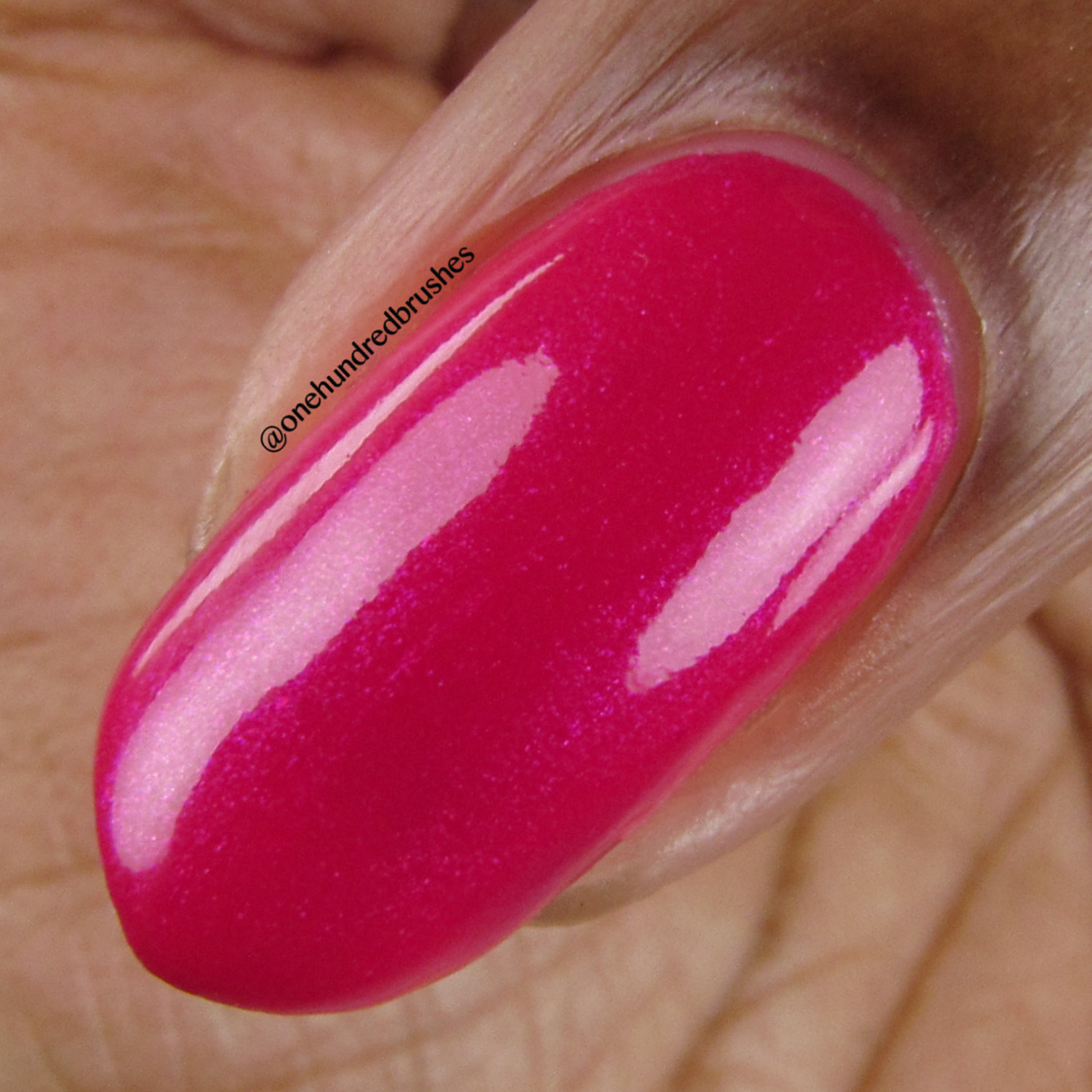 Flamingle - macro - Vapid Lacquer - April 2018 - Spring release - barbie pink - pink shimmer