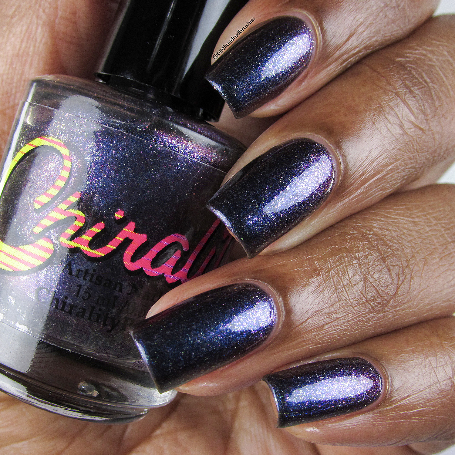 Galactic Core - bottle front - Chirality - April Polish Pickup - One Hundred Brushes -