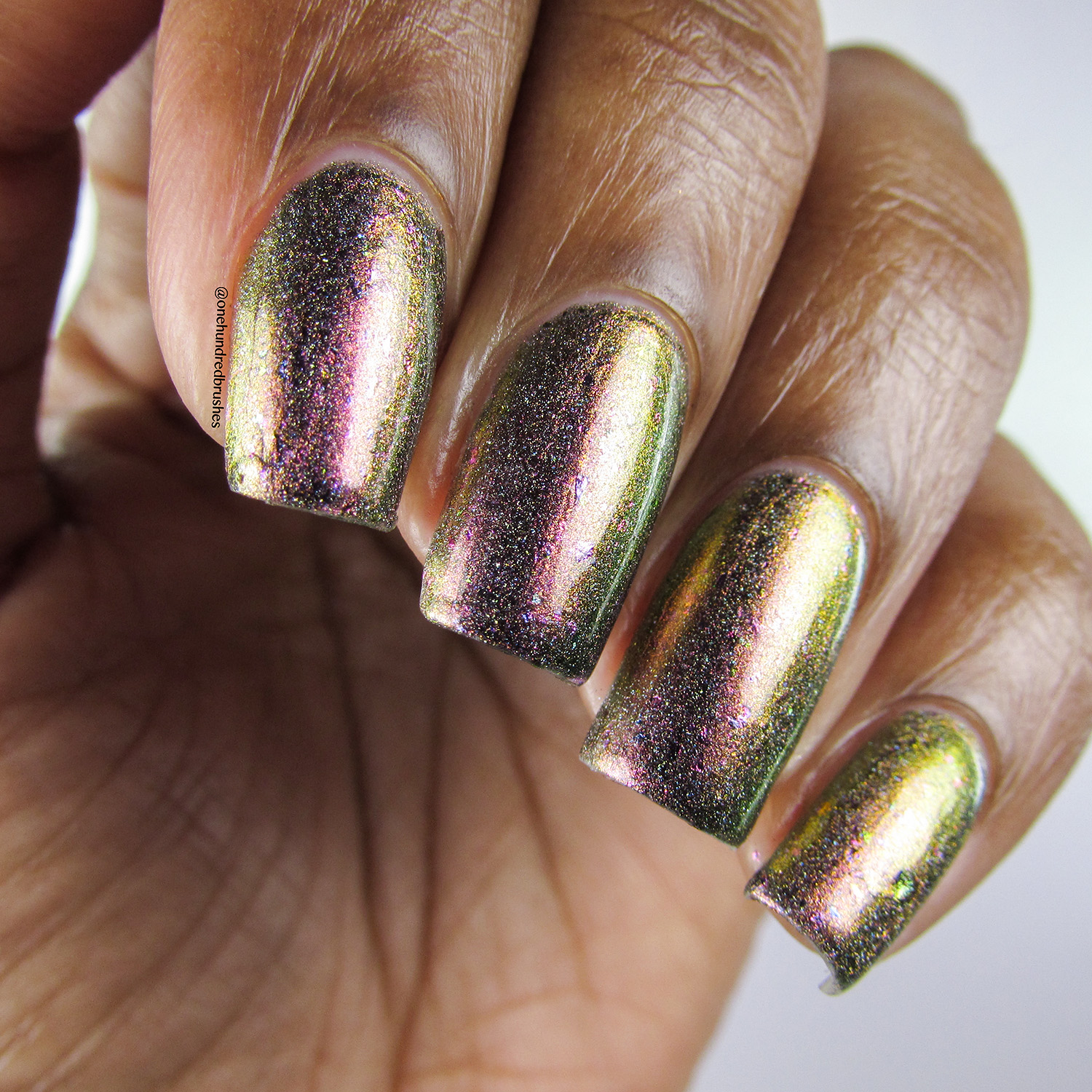 Gamora Doesn't Dance - closeup - Jior Couture - Polish Pickup Apr 2018 - multichrome - holographic