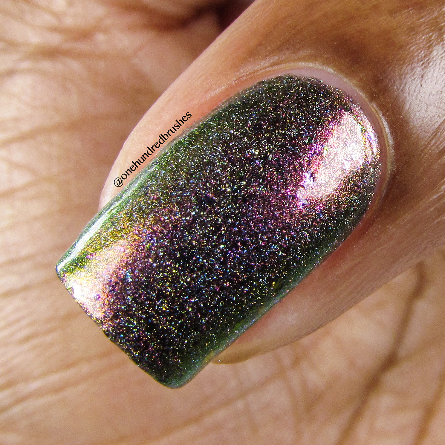 Gamora Doesn't Dance - macro - Jior Couture - Polish Pickup Apr 2018 - multichrome - holographic