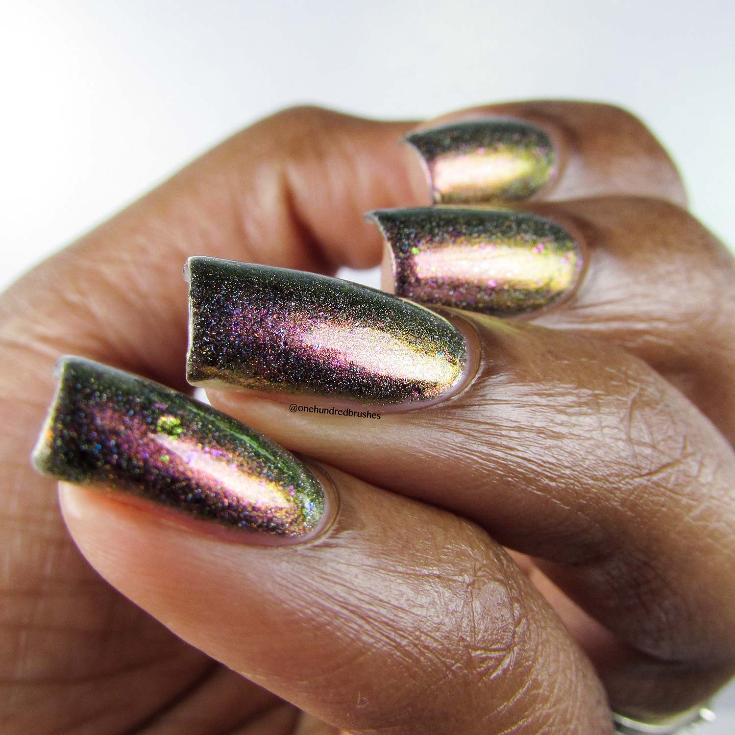 Gamora Doesn't Dance - angle - Jior Couture - Polish Pickup Apr 2018 - multichrome - holographic