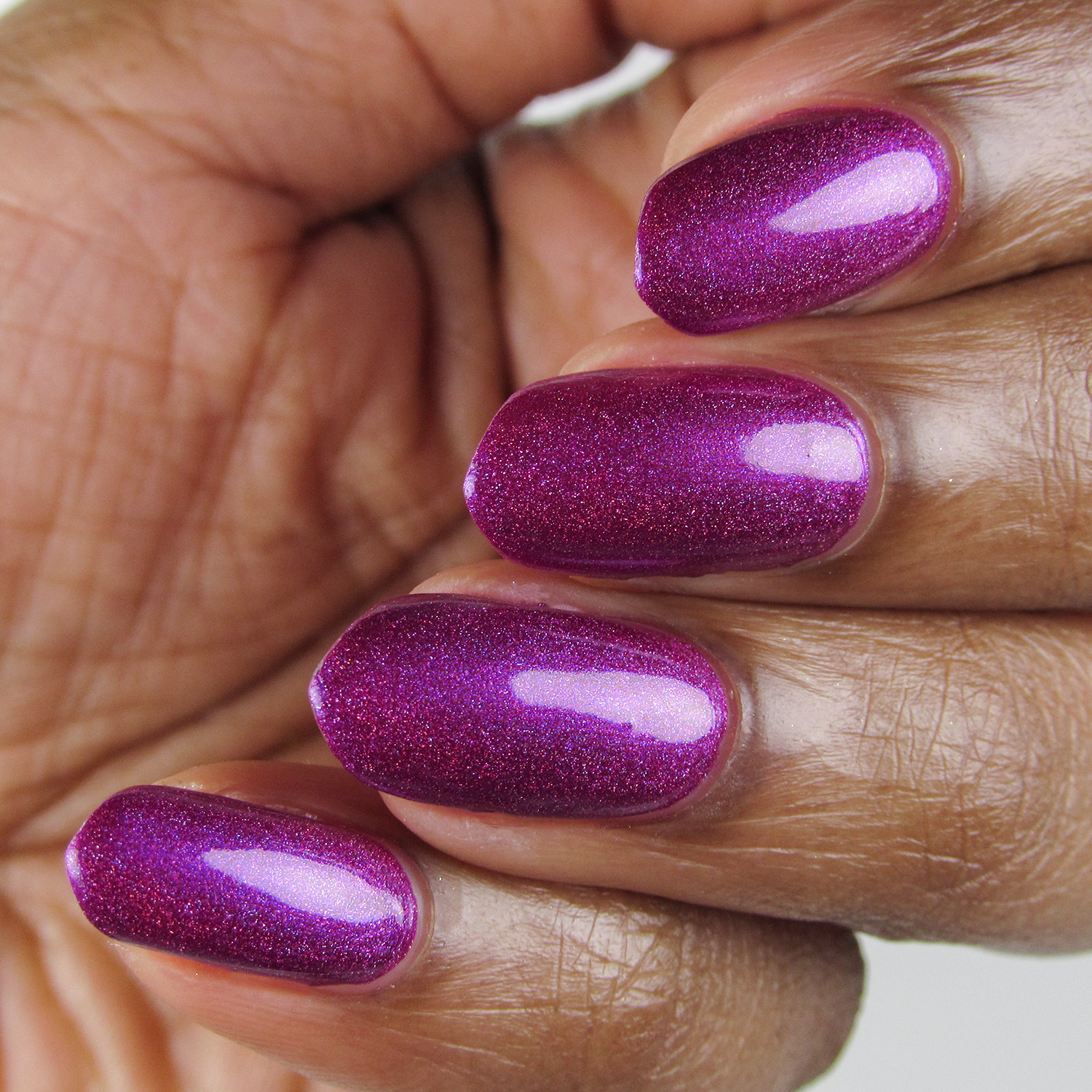 Hostile - angle - Vapid Lacquer - April 2018 - Spring release - berry purple - linear holographic