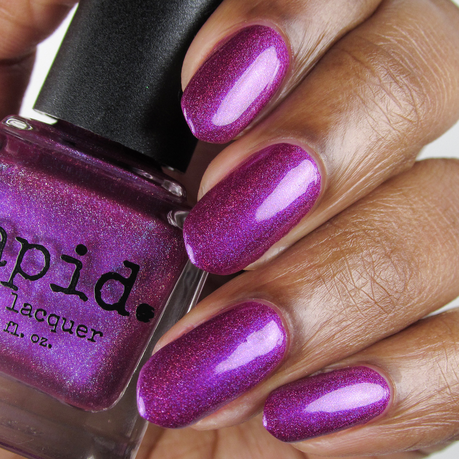Hostile - bottle - Vapid Lacquer - April 2018 - Spring release - berry purple - linear holographic
