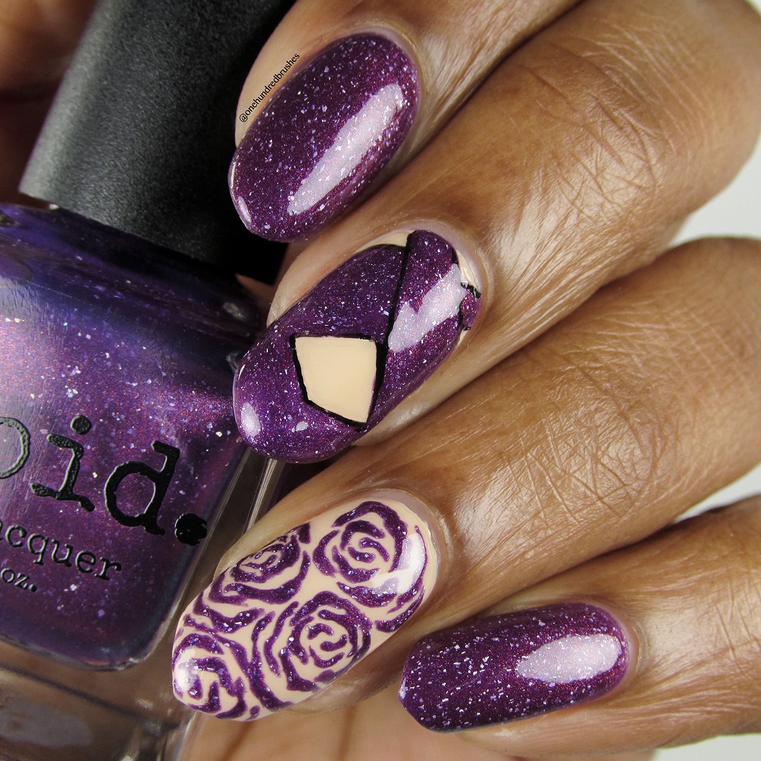 Anything For Selenas - bottle - Vapid Lacquer - May Polish Pickup - thermal - multichrome - holographic - como la flor - purple jumper