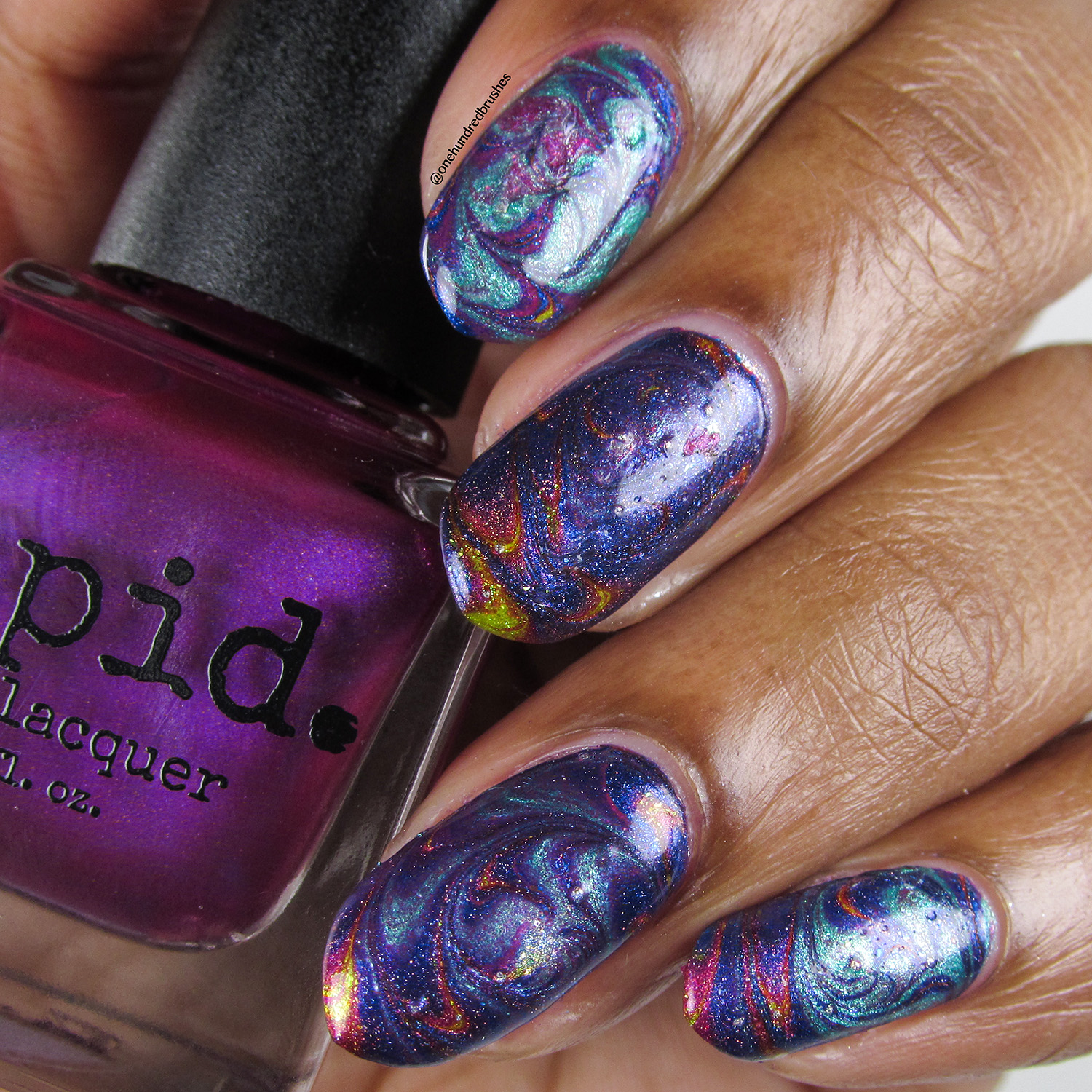 Swirl Watermarble - bottle - Vapid - April 2018 Spring Release - shimmer - holographic