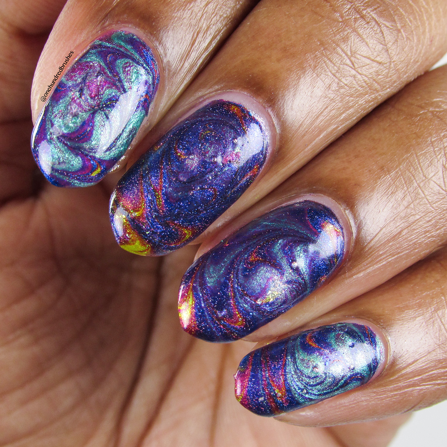 Swirl Watermarble - closeup - Vapid - April 2018 Spring Release - shimmer - holographic