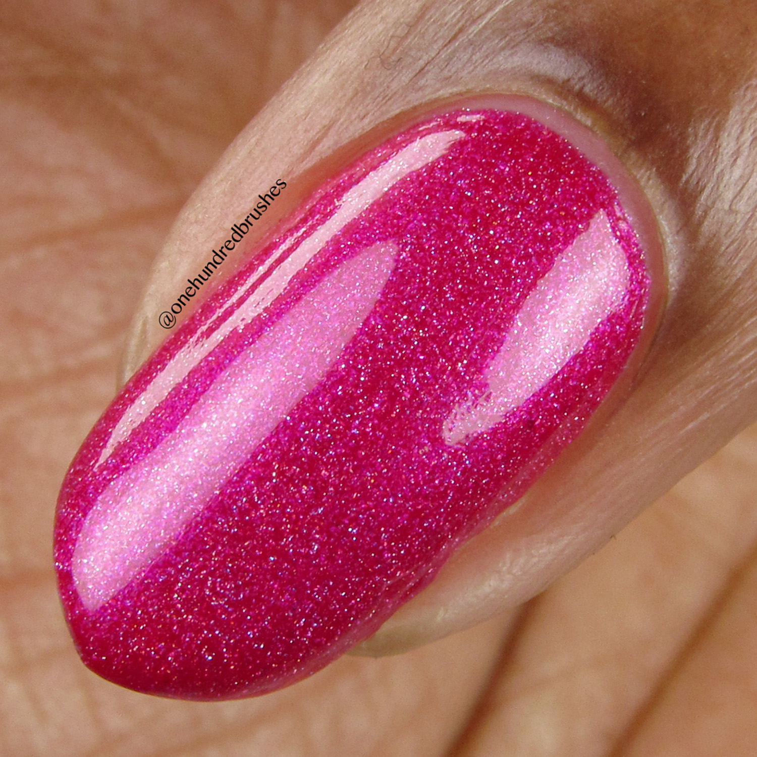 Tantrum - macro - Vapid Lacquer - April 2018 - Spring release - fuschia pink - linear holographic