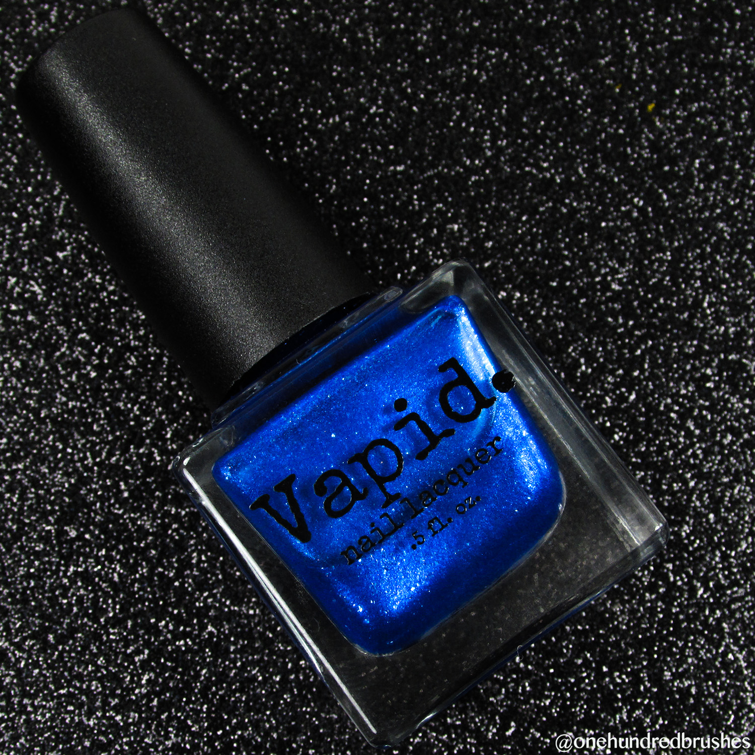 Trite - bottle - Vapid Lacquer - April 2018 - Spring release - cobalt blue, shimmer, metallic