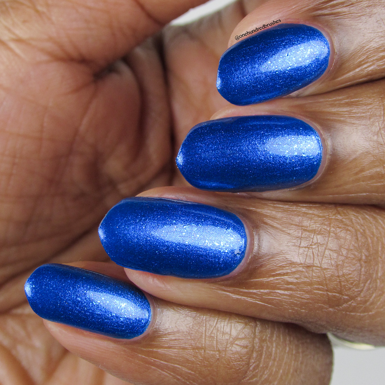 Trite - angle - Vapid Lacquer - April 2018 - Spring release - cobalt blue, shimmer, metallic