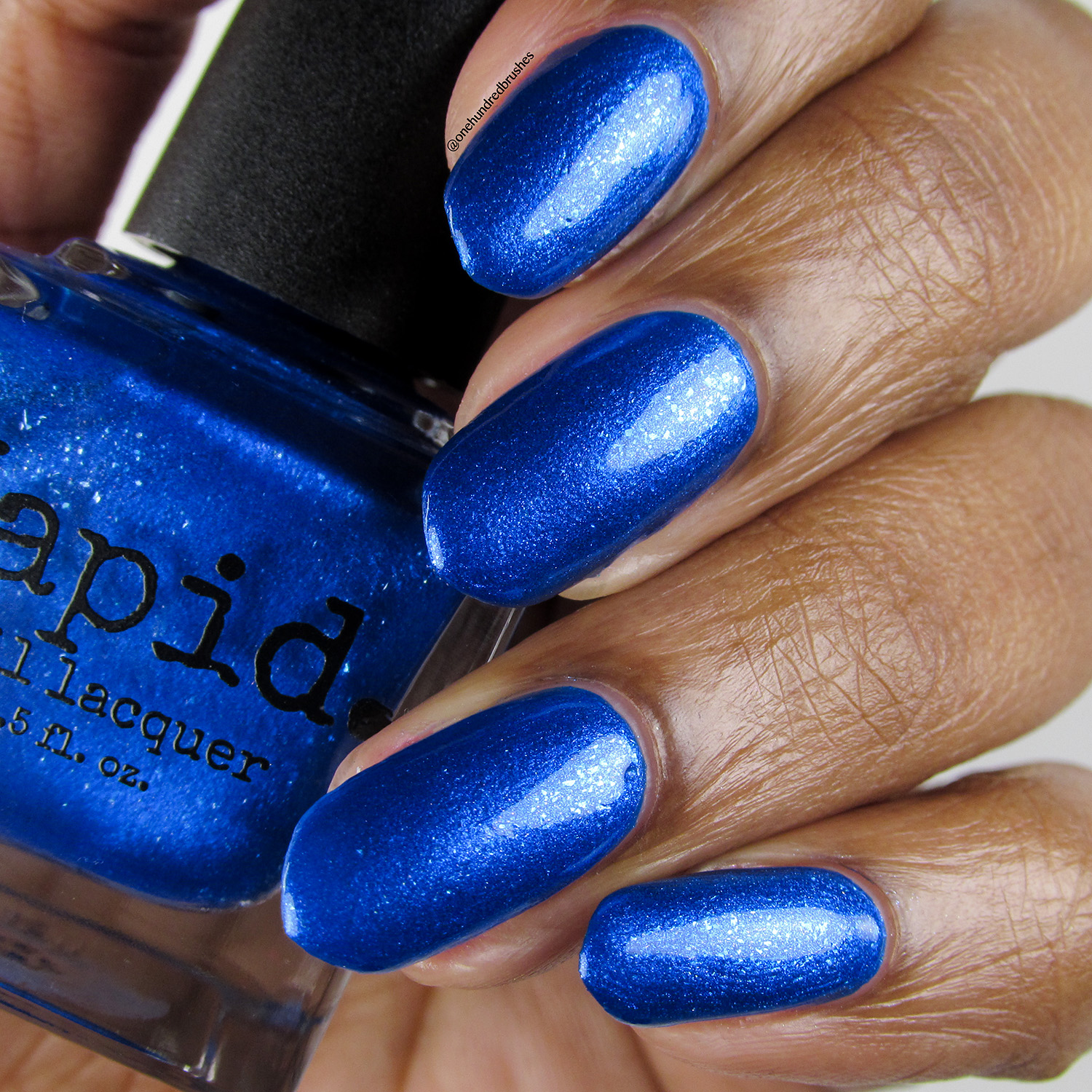 Trite - bottle - Vapid Lacquer - April 2018 - Blue polish - shimmer polish