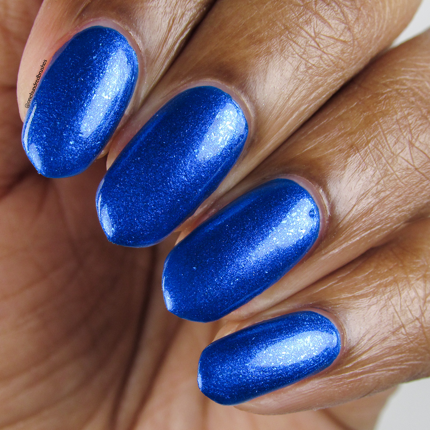 Trite - closeup - Vapid Lacquer - April 2018 - Spring release - cobalt blue, shimmer, metallic