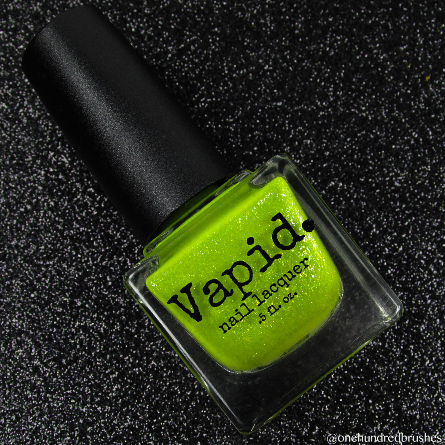 Venus Fly Trap - bottle - Vapid Lacquer - April 2018 - Spring release - yellow - green - chartreuse - yellow shimmer