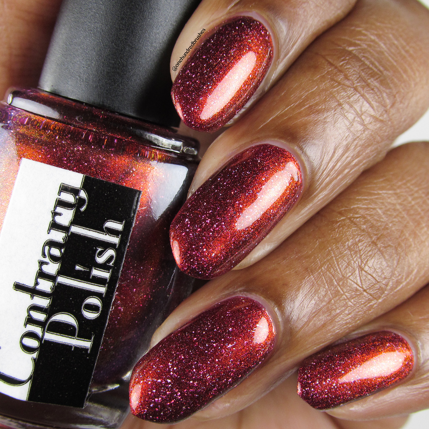 Crimson Glow - bottle - Contrary Polish - PPU May 2018 - My So Called Life