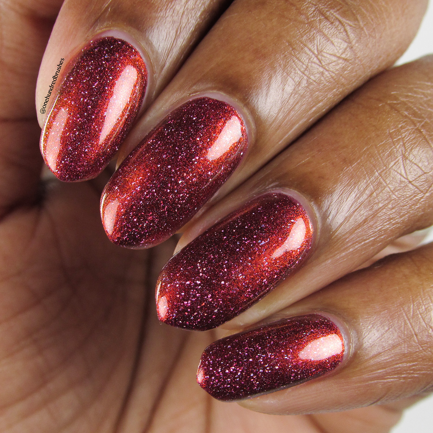 Crimson Glow - closeup - Contrary Polish - PPU May 2018 - My So Called Life