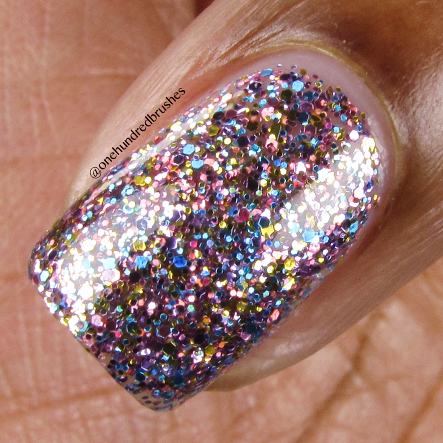 Glitter Godmother - Macro - Painted Polish - The Indie Shop Anaheim 2018