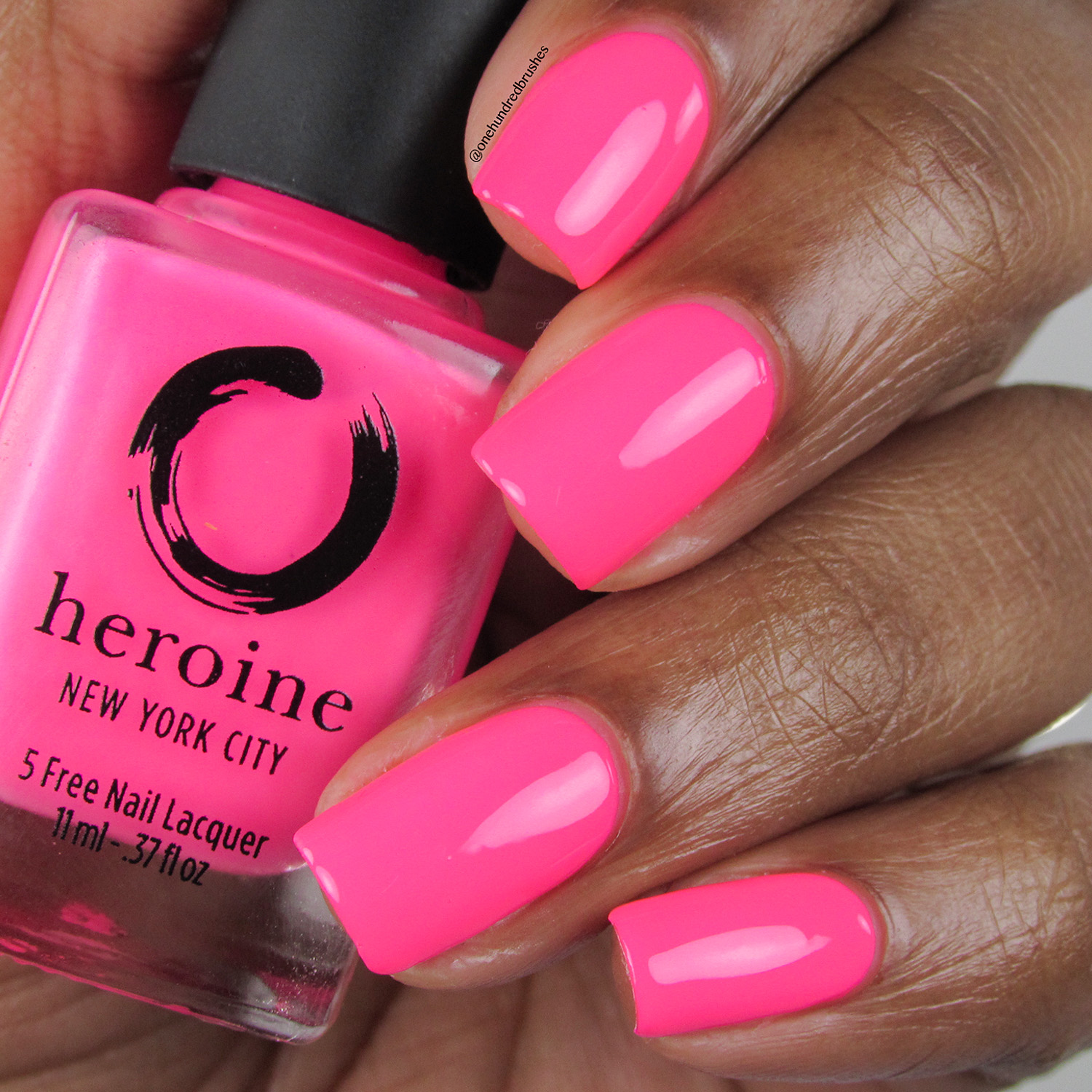 Mean Girl - Bottle Front - Heroine NYC - The Neons - Neon pink - pink