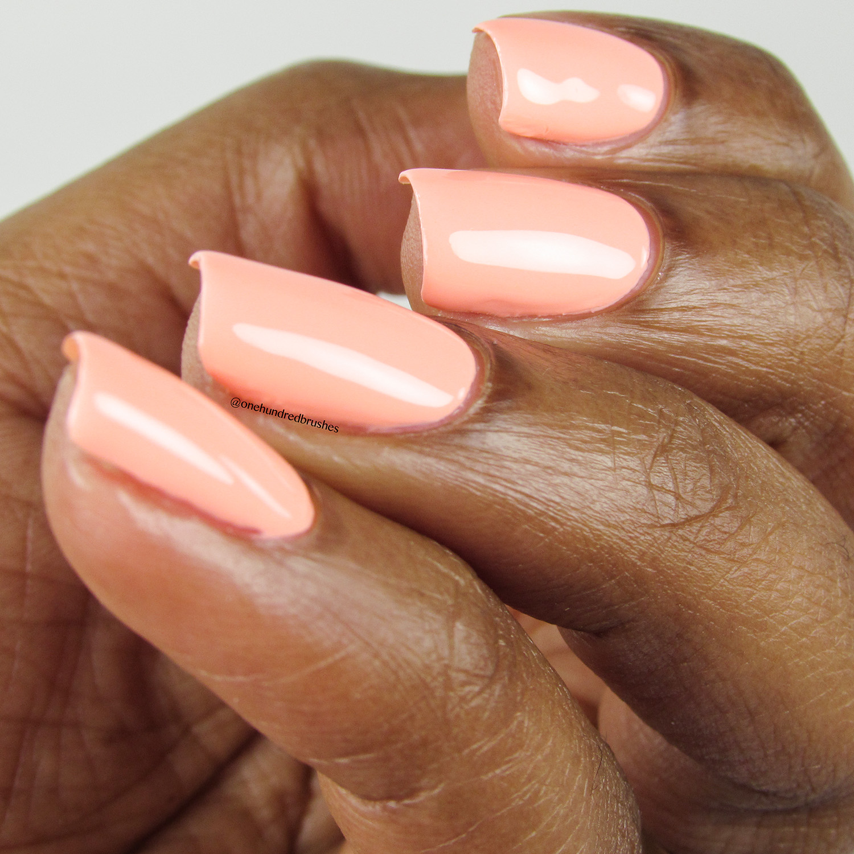 Peach Please - Angle 2 - Heroine NYC - Dream Cremes - pastel neon - peach