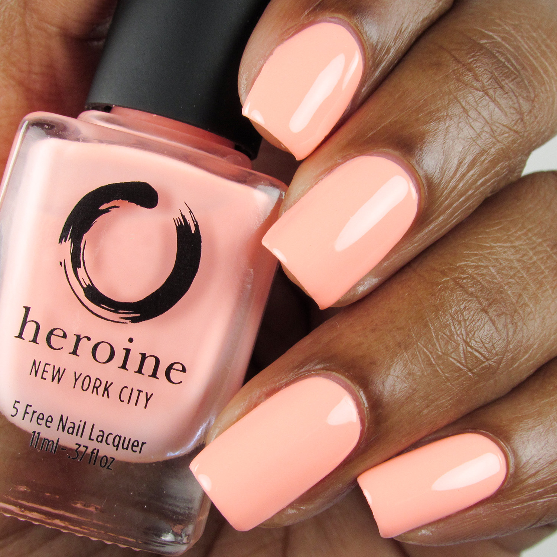 Peach Please - Bottle Front - Heroine NYC - Dream Cremes - neon pastel - peach