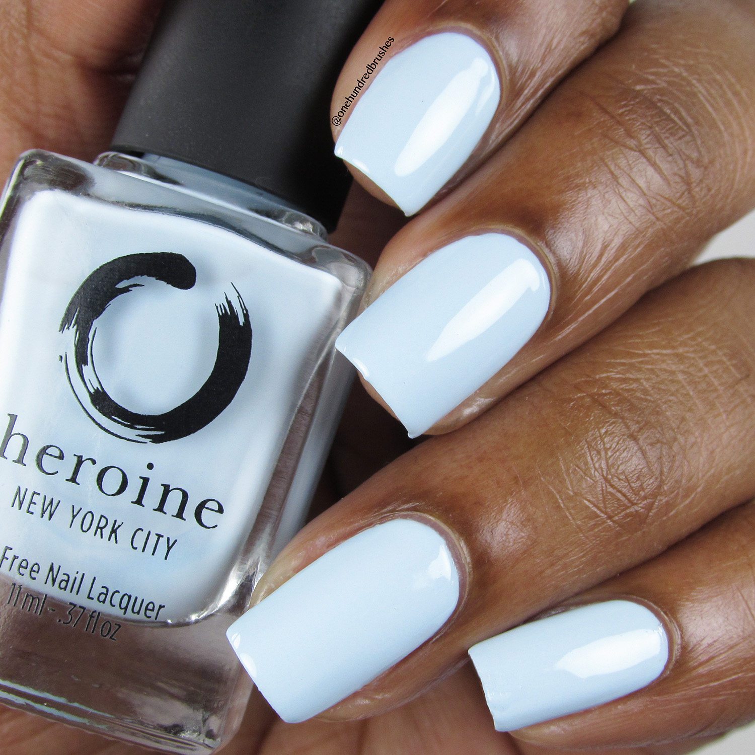 Peek-A-Blue - Bottle Front - Heroine NYC - Dream Cremes - pastel - baby blue