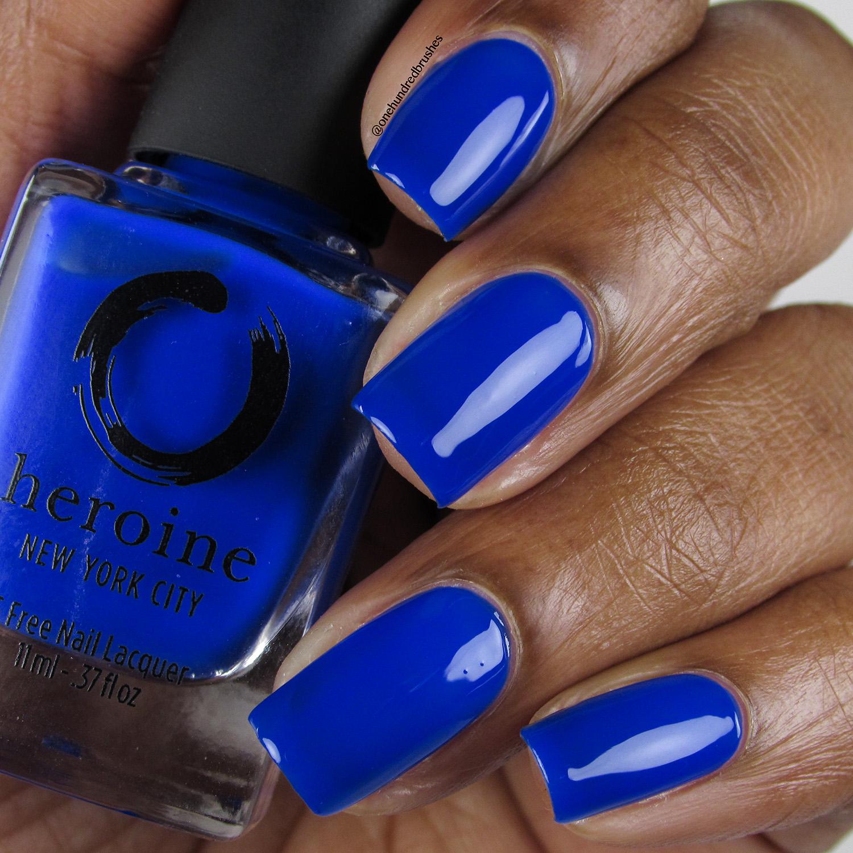 Royal Blood - Bottle Front - Heroine NYC - The Neons - cobalt blue
