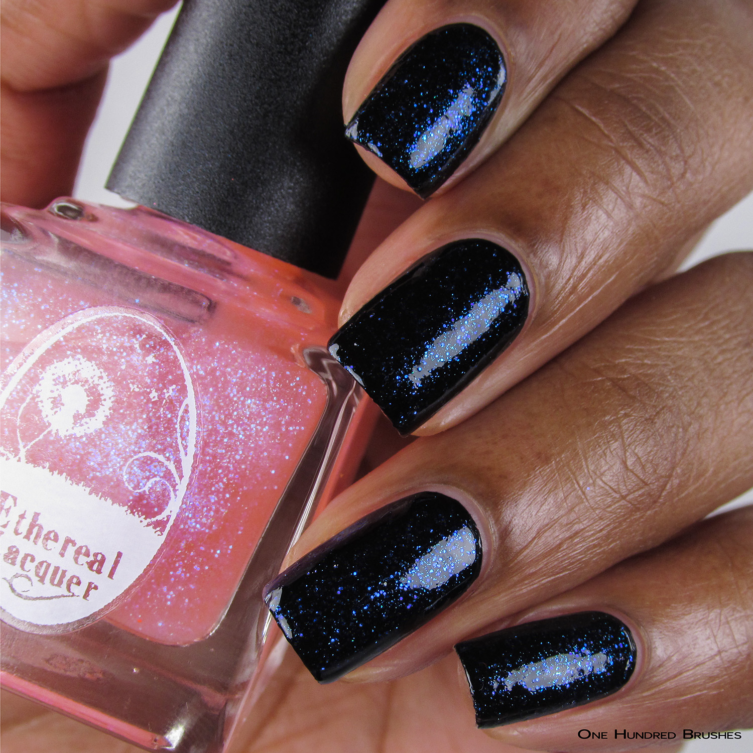 Eat Me, Drink Me - Bottle Front over Black - Ethereal Lacquer - July HHC