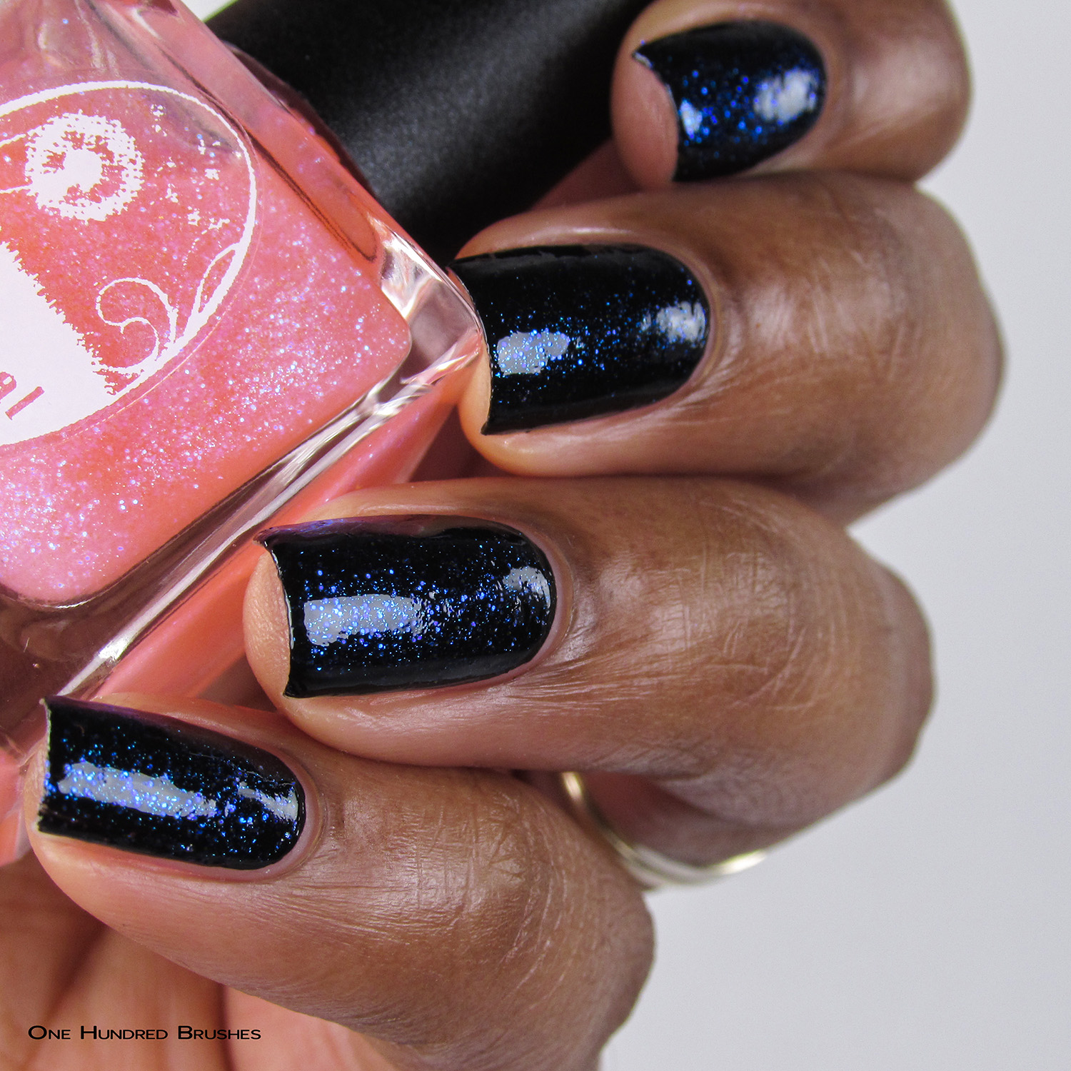 Eat Me, Drink Me - Bottle Side over Black - Ethereal Lacquer - July HHC