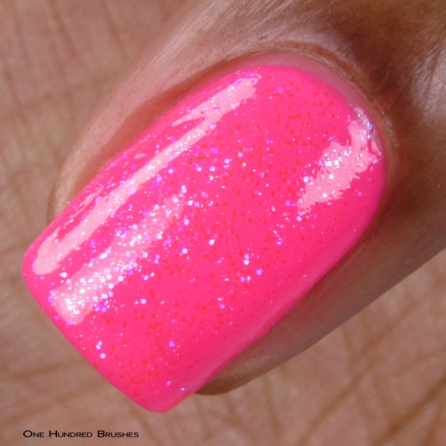 Eat Me, Drink Me - Macro over Neon Pink - Ethereal Lacquer - July HHC
