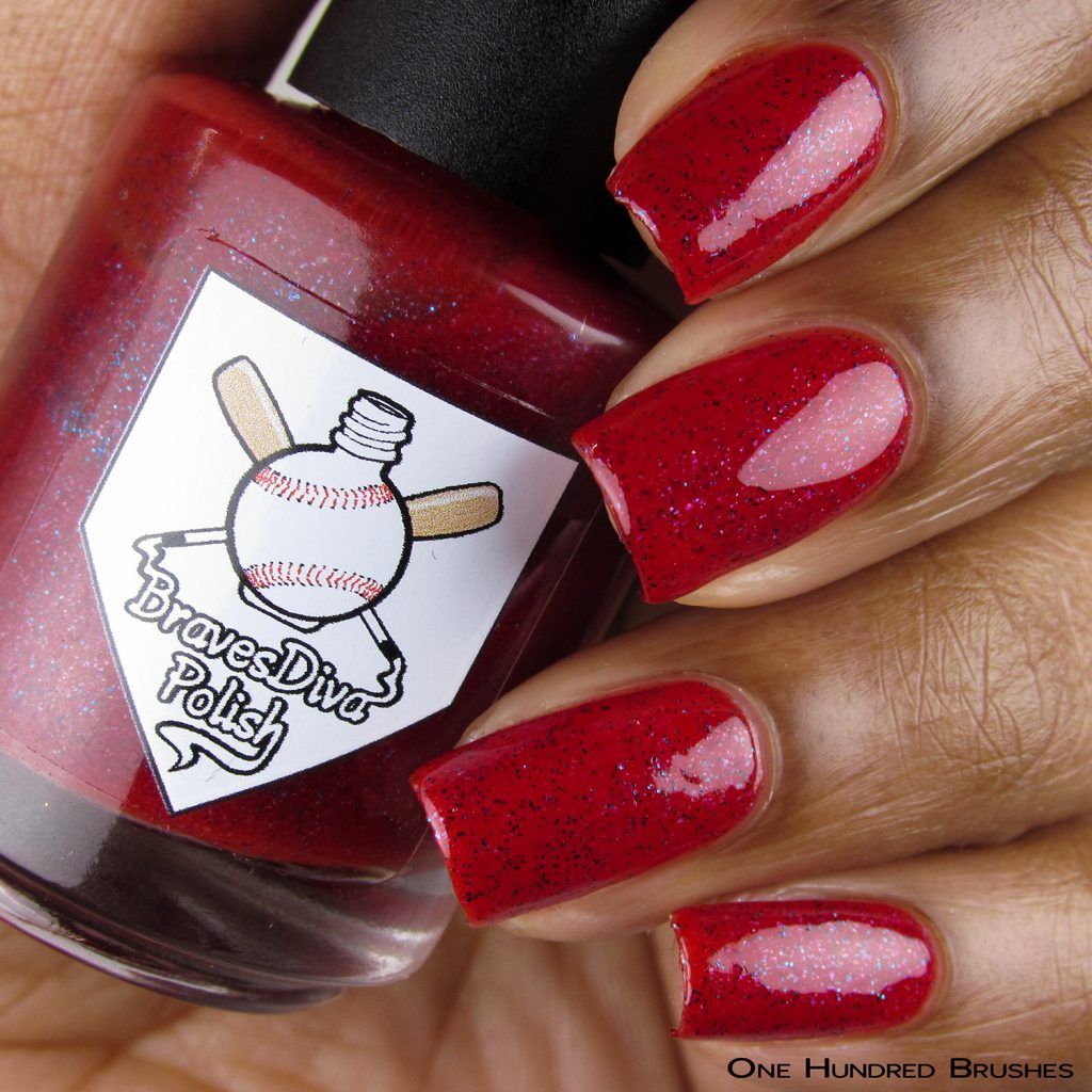Roper - Bottle Front - Braves Diva Polish - The Artists Collection