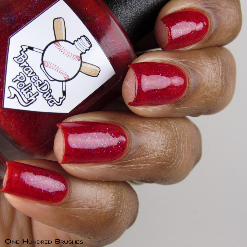 Roper - Bottle Side - Braves Diva Polish - The Artists Collection