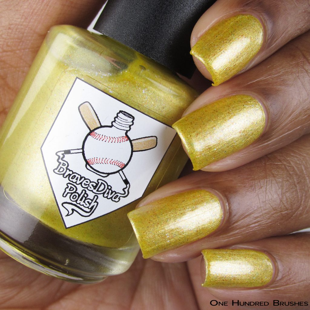 The Cowboy - Bottle Front - Braves Diva Polish - The Artists Collection