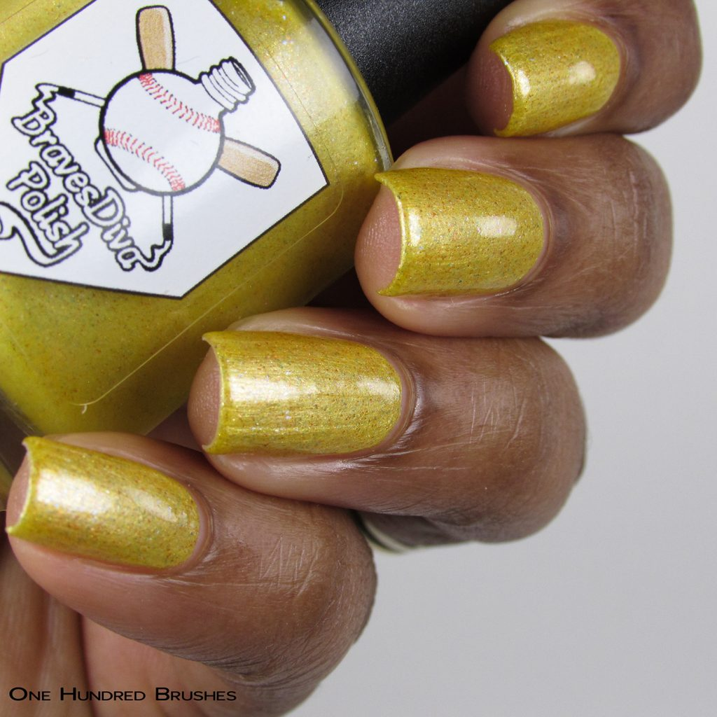 The Cowboy - Bottle Side - Braves Diva Polish - The Artists Collection