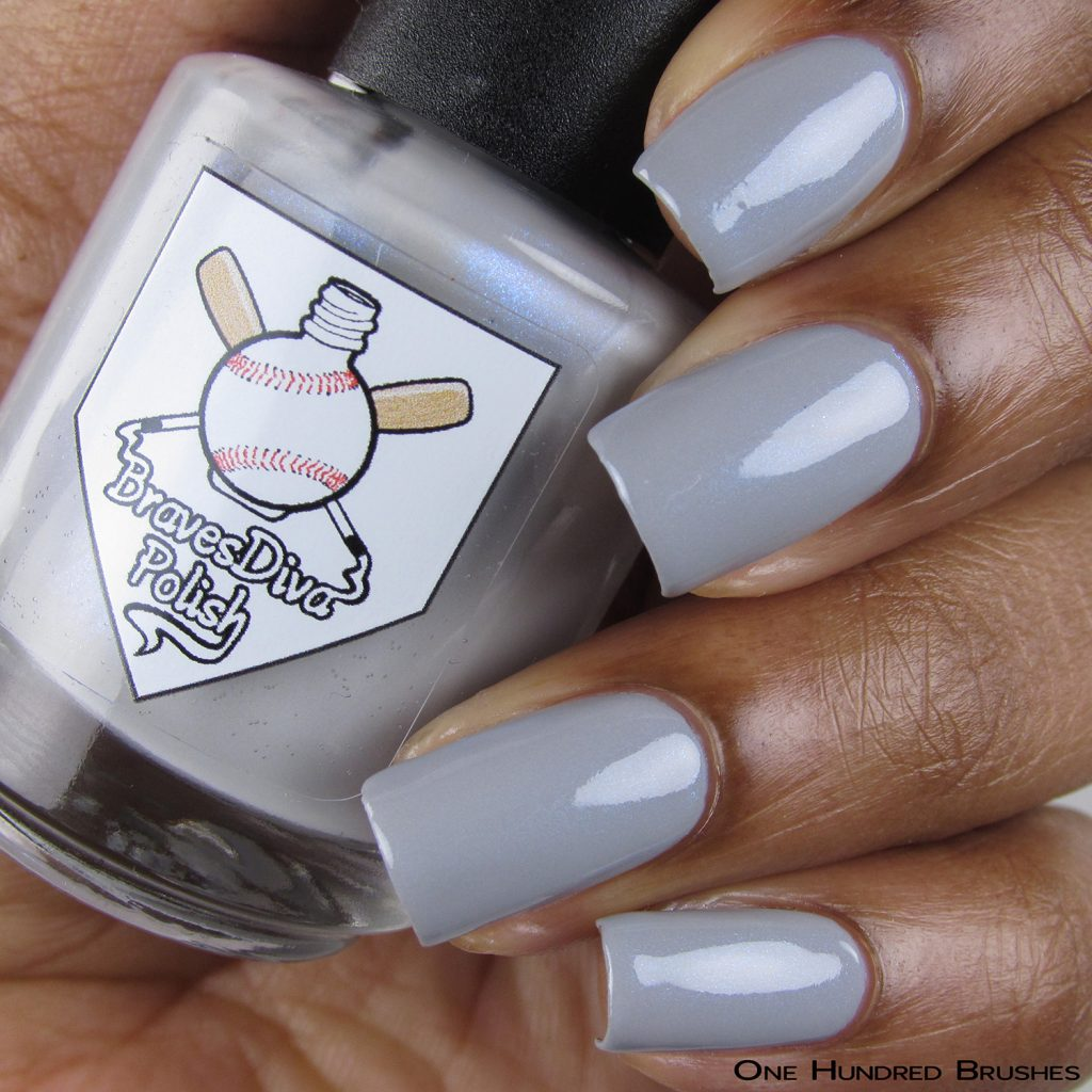 Watchful Spirits - Bottle Front - Braves Diva Polish - The Artists Collection