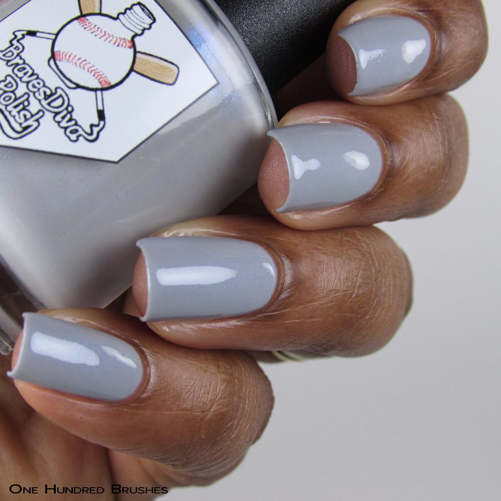 Watchful Spirits - Bottle Side - Braves Diva Polish - The Artists Collection