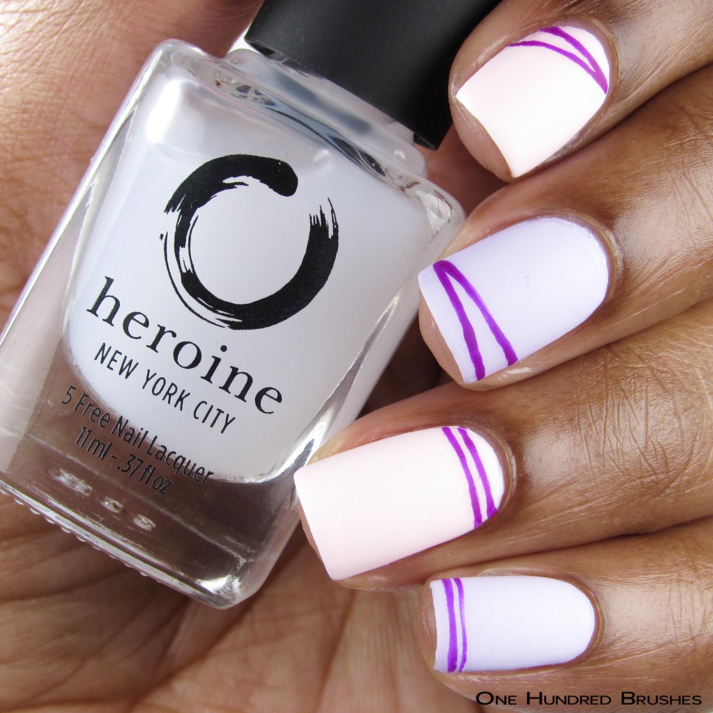 Geometric Nail Art - Bottle Front - Her-Matte-Jesty - Heroine