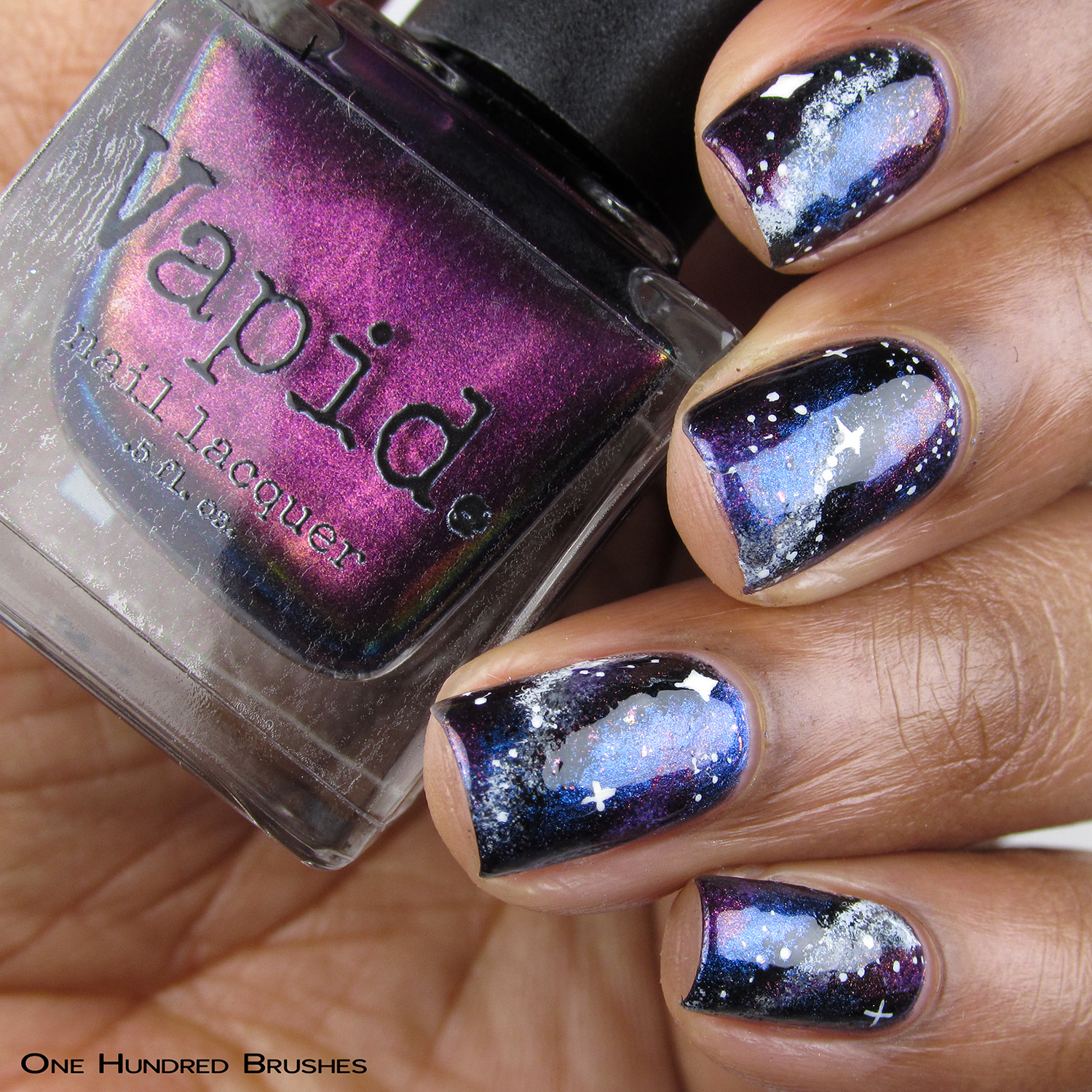 A Little Mad Galaxy (nail art) - Vapid Lacquer - January 2019 Preorder