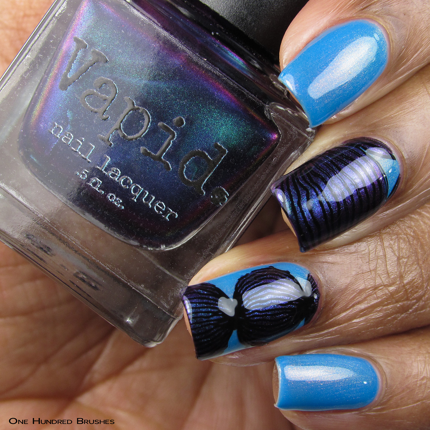 Heathen Contemplation Nail Art - Vapid Lacquer May 2019