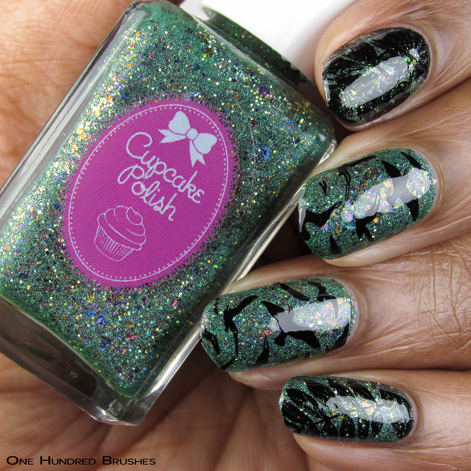 Force of Nature - Bottle Front - Cupcake Polish - Holo Hookup Aug 2019