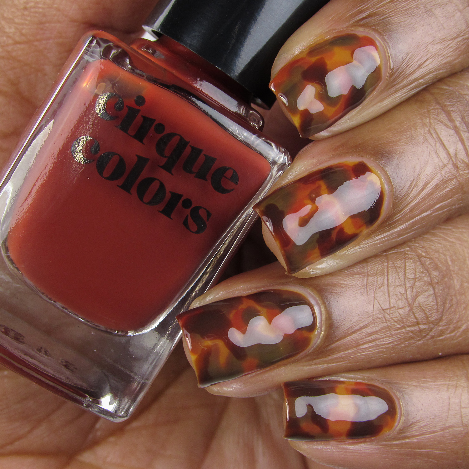 Tortoise Shell Nail Art - Cirque Colors