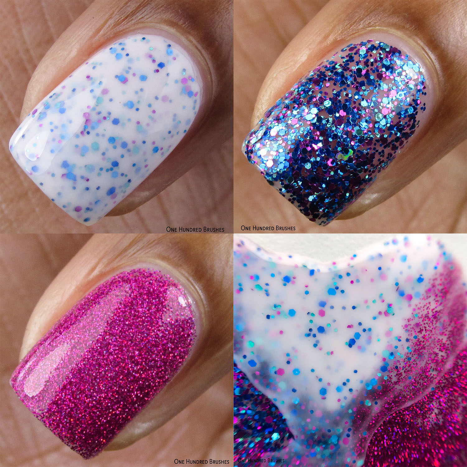 Macro collage - Painted Polish by Lexi - Blizzards & Berries Jan 2020