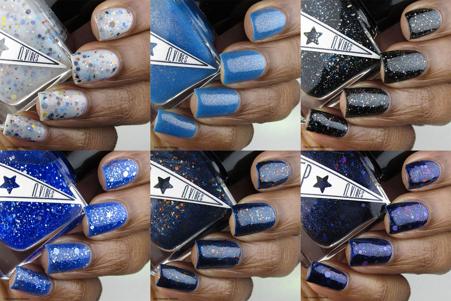 Bottle Side Collage - Stargazer Collection - Pep Nail Vibes Feb 2020