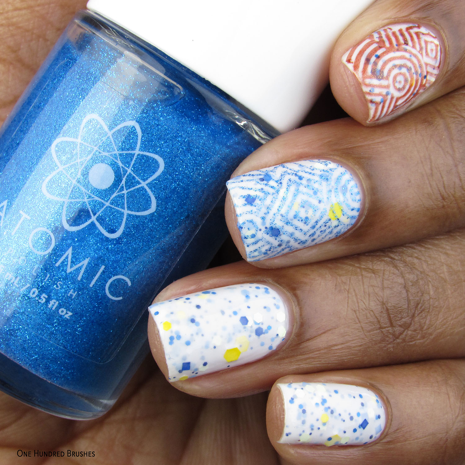 Nail Art - Bottle Front - Atomic, Moon Shine, Treo - Fallout Polished Gamers February 2020