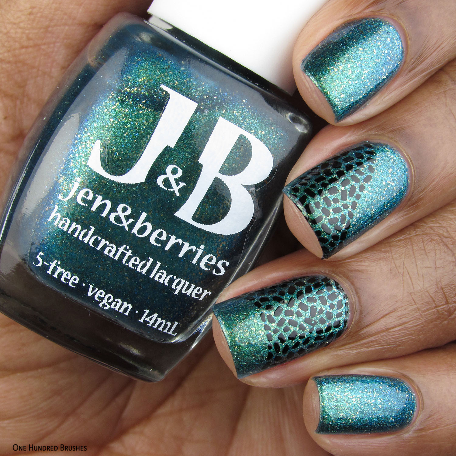 Nail Art - Bottle Front - Jen & Berries - Fallout Polished Gamers February 2020