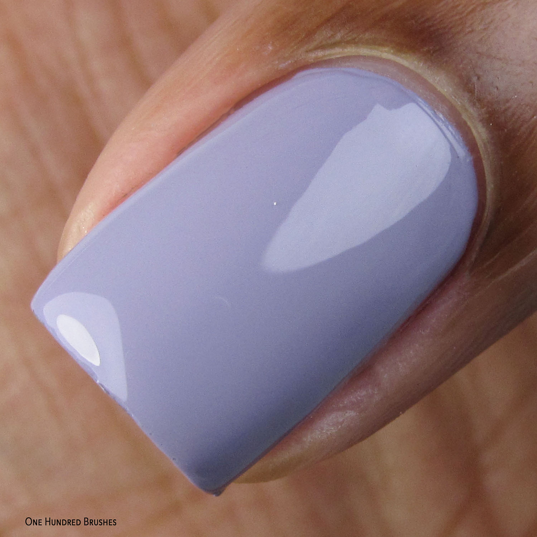 Stamped in Pale Mauve - Macro - I Love Mauve - Painted Polish Feb 2020