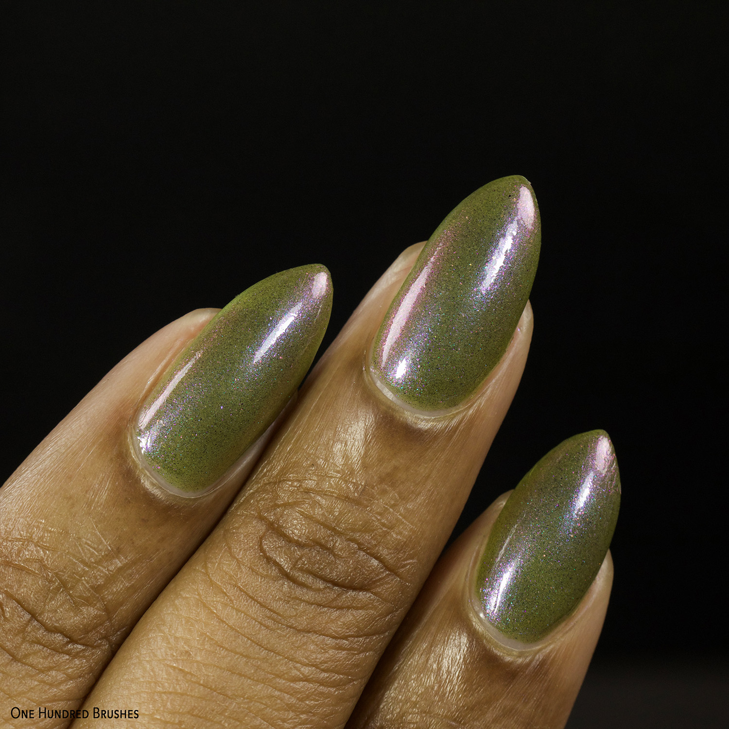 Olive You Berry Much - Closeup 2 - Night Owl Lacquer for Olive Polish Feb 2021
